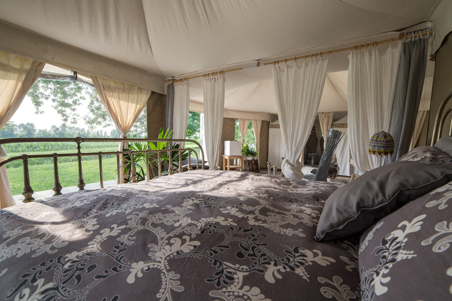 Luxury Suite Tent Bamboo Tent Surrounded By Nature With A